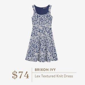 NWT Brixon Ivy Lex Textured Fit & Flare Dress